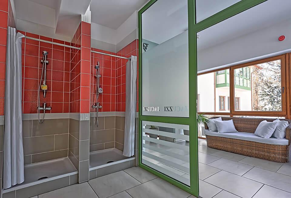 Prysznice w SPA